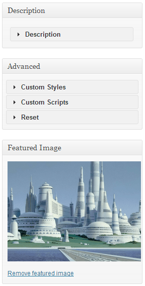 MaxGalleria lets you easily set your featured image