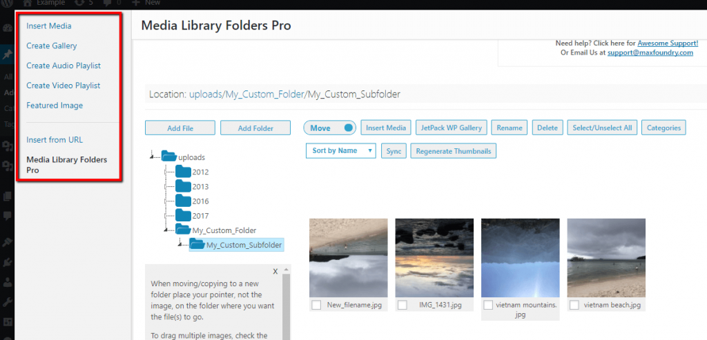 wordpress editor interface