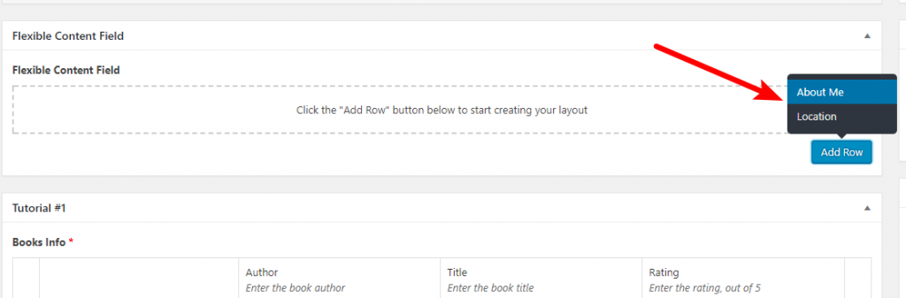 flexible content field example
