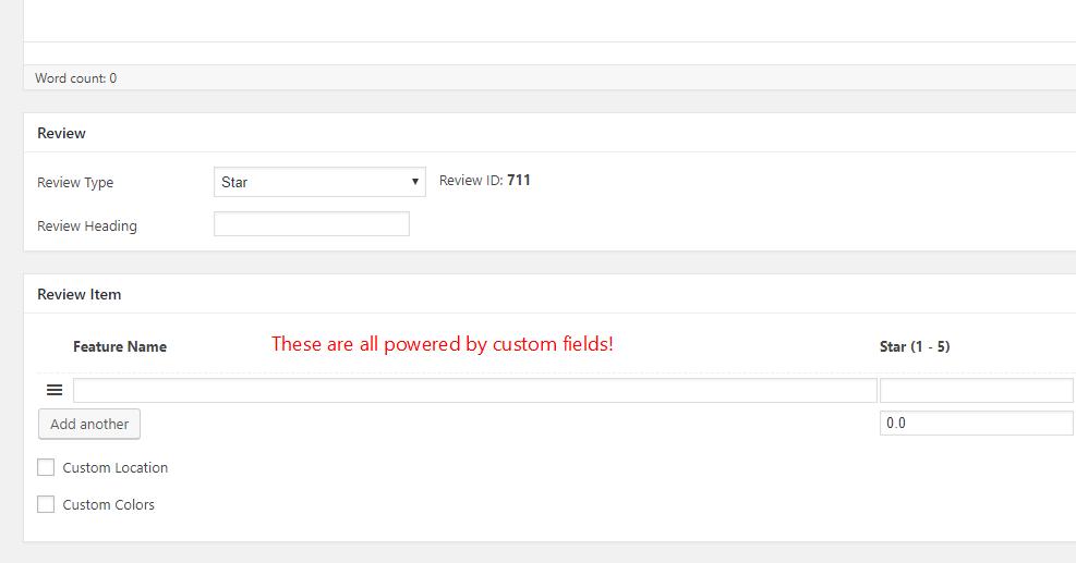 example of advanced custom fields