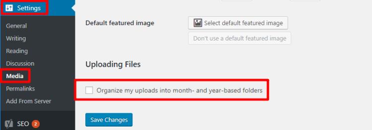 wordpress uploads