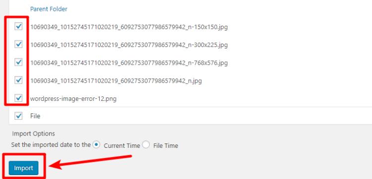 bulk upload images to wordpress via ftp