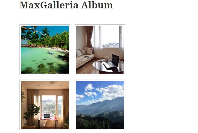 example of MaxGalleria Albums grid