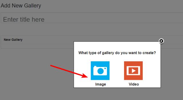 choose gallery type