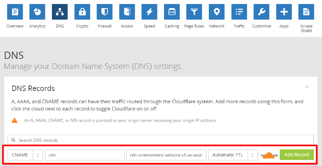 how to connect cloudflare to amazon s3
