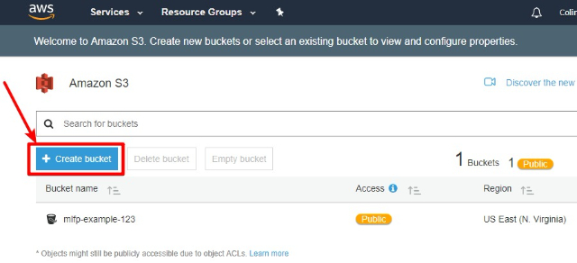 create a new s3 bucket